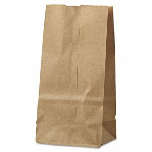GEN 2# Brown Kraft Paper Bags, Standard Grade, 500 Bags (BAG GK2-500)