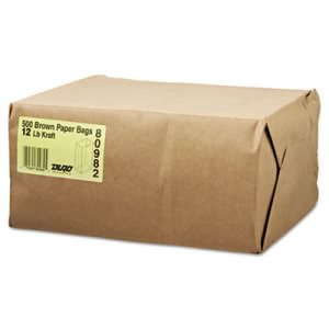 GEN 12# Brown Kraft Paper Bags, Standard Grade, 500 Bags (BAG GK12-500)