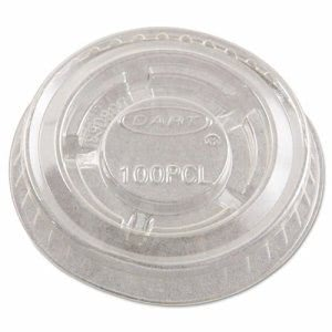 Dart Portion Cup Lids for 1/2-1oz Containers, Clear, 125/Sleeve (DCCPL1N)