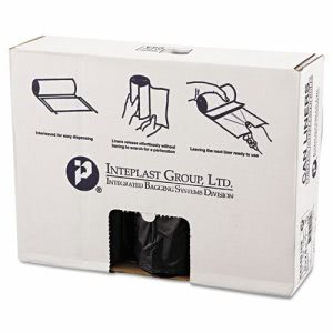 60 Gallon Black Trash Bags, 43x48, 16mic, 200 Bags (IBSS434816K)