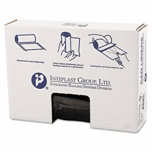 56 gallon Low-Density Can Liner, 43 x 47,.90 Mil, Black, 25/Roll (IBSSL4347XPK)