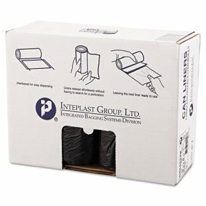 45 Gallon Black Trash Bags, 40x48, 22mic, 150 Bags (IBSS404822K)