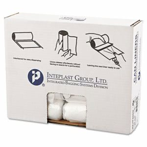 10 Gallon Clear Trash Bags, 24x24, 8mic, 1000 Bags (IBSS242408N)