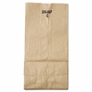 4# Brown Kraft Paper Bags 500 per Bundle (BAG GK4-500)