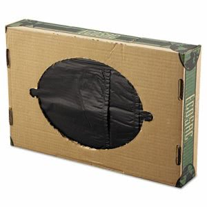 60 Gallon Black Garbage Bags, 38x60, 1.16mil, 50 Bags (ESS ECO60SXH)