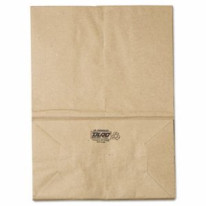 1/6-57# Standard-Duty Brown Kraft Paper Grocery Bags 500 per Bundle (BAG SK1657)