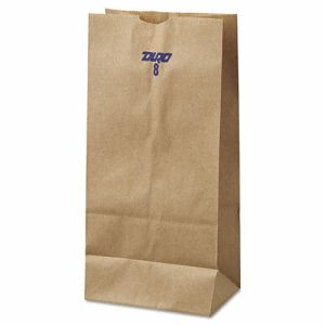 8# Brown Kraft Paper Bags, Standard Grade, 500 Bags (BAG GK8-500)