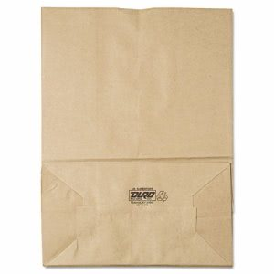 General 1/6 Brown Paper Bag, 75-lb, 12 x 7 x 17, 400-Bundle (BAGSK1675)