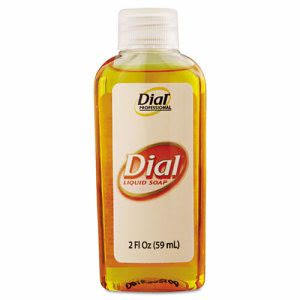 Liquid Dial Gold Antimicrobial Soap, Unscented, 2 oz (DIA 06059)