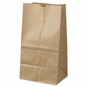GEN 25# Shorty Brown Kraft Paper Bags 500 per Bundle (BAG GK25S-500)