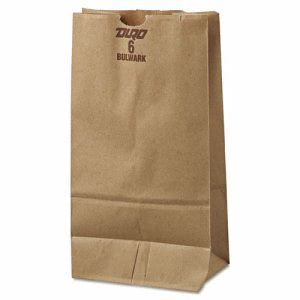 6# Heavy-Duty Brown Kraft Paper Bags 500 per Bundle (BAG GX6-500)