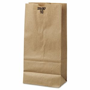 10# Brown Kraft Paper Bags, Standard Grade, 500 Bags (BAG GK10-500)