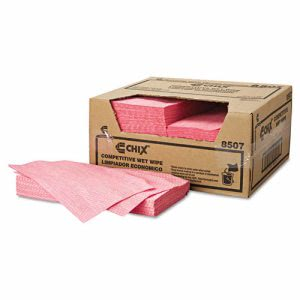 Chicopee Chix Wipes, Food Service Wipes, Rayon, Pink, 200 Wipes (CHI 8507)