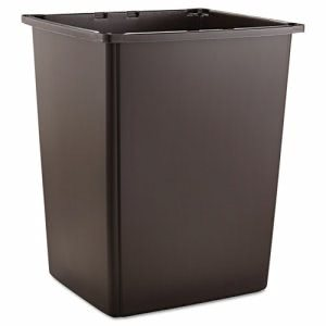 Rubbermaid Glutton 56 Gallon Trash Can, Brown (RCP256BBRO)