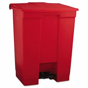 Rubbermaid 6145 18 Gallon Step-On Medical Waste Can, Red (RCP 6145 RED)