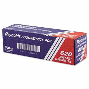 Heavy-Duty Aluminum Foil Rolls, 12in x 500 ft., 1 Roll (REY 620)
