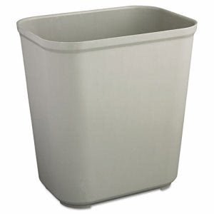 Rubbermaid 7 Gallon Fire-Resistant Wastebasket, Gray (RCP2543GRA)