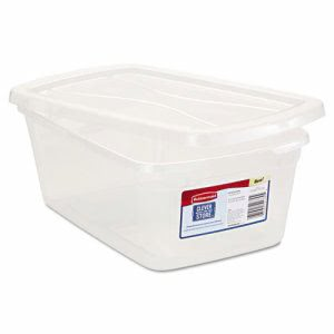 Rubbermaid Clever Store Snap-Lid Container, 1.625gal, Clear, 10/Ctn (RUB3Q31CLE)