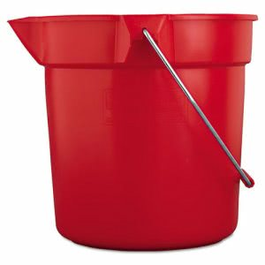Rubbermaid 2963 Brute 10 Quart Utility Pail, Red (RCP2963RED)