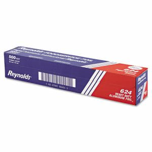 "Reynolds Wrap Heavy Duty Aluminum Foil Roll, 18"" x 500ft, Silver (RFP624)"