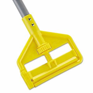 "Rubbermaid Invader Fiberglass Wet-Mop Handle, 54"", Gray/Yellow (RCPH145)"