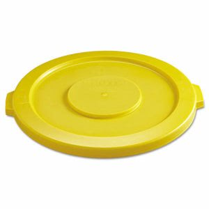 Rubbermaid 2631 Brute 32 Gallon Round Trash Container Lid, Yellow (RCP 2631 YEL)