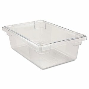Rubbermaid 3309 Clear Food/Tote Box, 3.5 Gallons (RCP3309CLE)