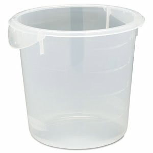 Rubbermaid 572124 Round Storage Container, 4 Quart, Clear (RCP572124CLE)