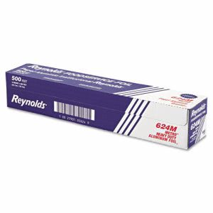 "Reynolds Metro Aluminum Foil Roll, Lighter Gauge, 18"" x 500ft, Silver (RFP624M)"