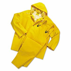 Anchor Brand Rainsuit, PVC/Polyester, Yellow, Large (ANR 9000L)