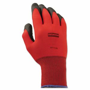 North Safety NorthFlex Red Foamed PVC Gloves, Red/Black, Size 9L (NSPNF119L)
