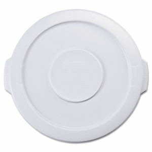 Rubbermaid 2609 Round Brute Flat Lid for 10 Gallon Container, White (RCP2609WHI)