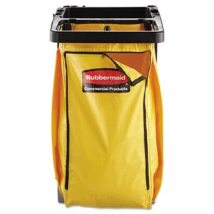 Rubbermaid 9T80 Replacement Vinyl Cleaning Cart Bag, Yellow (RCP9T80YEL)