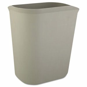 Rubbermaid 2541 Fire-Resistant 3.5 Gallon Wastebasket, Gray (RCP2541GRA)