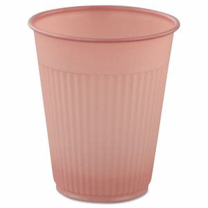 Solo Cup Plastic Medical & Dental Cups, 5oz, Mauve, Fluted, 100/Bag (SCCMMPCF5)