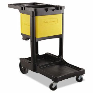 Rubbermaid 6181 Locking Cabinet For 6173 Cleaning Cart, Yellow (RCP 6181 YEL)