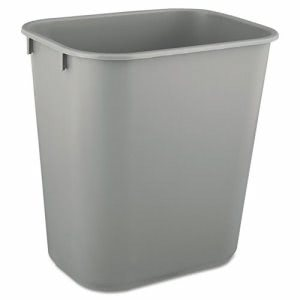 Rubbermaid 2955 Deskside 3.5 Gallon Plastic Wastebasket, Gray (RCP2955GRA)