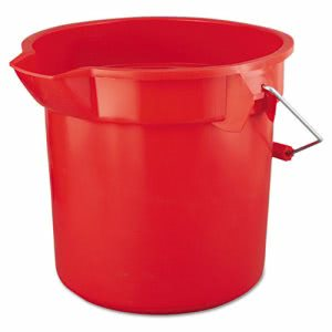 Rubbermaid Commercial BRUTE Round Utility Pail, 14qt, Red (RCP2614RED)