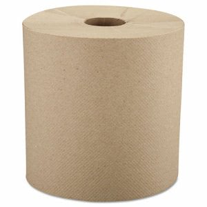 Windsoft 800 ft Brown Hard Roll Paper Towels, 6 Rolls (WIN 1280-6)