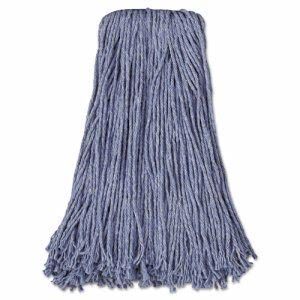 Blue 20-oz. Cut-End Wet Mop Heads, Cotton/Synthetic Blend, 12 Mops (UNS 2024B)