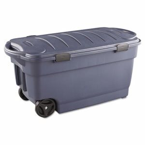 Rubbermaid 2463 Roughneck Jumbo 45 Gallon Wheeled Storage Box (RUB2463DIM)