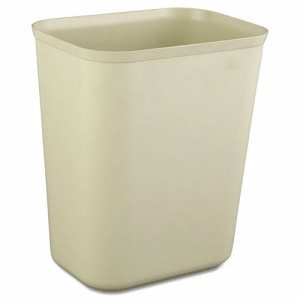 Rubbermaid 2540 Fire Resistant 7 Quart Wastebasket, Beige (RCP2540BEI)