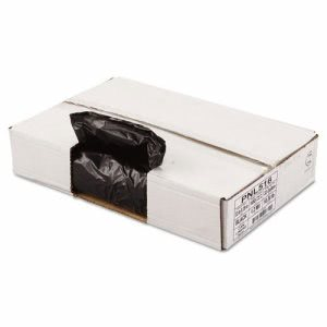 33 Gallon Black Garbage Bags, 33x39, 1.2mil, 100 Bags (PNL516)