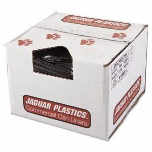 Jaguar Plastics Repro Low-Density Can Liners, 43w x 47h, Black (JAGR4347HH)
