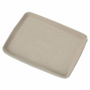Chinet StrongHolder Molded Fiber Food Trays, 9 x 12, Beige, 250 Trays (HUH20815)