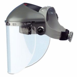 "Fibre-Metal High Performance Face Shield, 4"" Crown Ratchet, Noryl,Gray (FBRF400)"