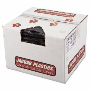 45 Gallon Black Garbage Bags, 40x46, 2mil, 100 Bags (JAG R4046HH)
