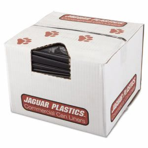 Jaguar Plastics Repro Low-Density Can Liners, 38w x 58h, Black (JAGR3858HH)
