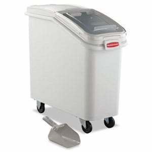 Rubbermaid 360088 ProSave Mobile Ingredient Bin, White (RCP360088WHI)