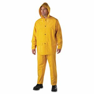 Anchor Brand Rainsuit, PVC/Polyester, Yellow, Size X-Large (ANR9000XL)